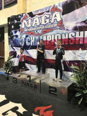 Congratulations...C.C. Wins Gi and No-Gi at the NAGA Competition