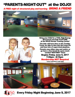 Kids Karate in Newtown - The Dojo Karate Training Center - Parents Night Out
