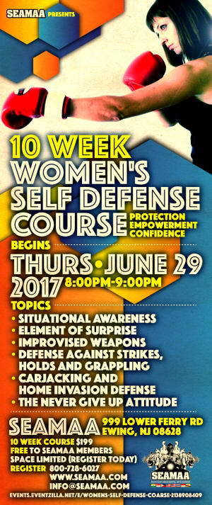 in Ewing - Southeast Asian Martial Arts Academy (SEAMAA) - 10 Week Women's Self Defense Course