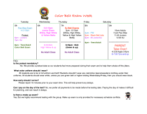 in Albertson - Taecole Tae Kwon Do & Fitness - JUNE COLOR BELT TEST SCHEDULE