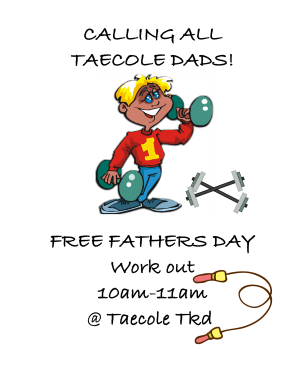 Kids Martial Arts in Albertson - Taecole Tae Kwon Do & Fitness - FREE Fathers Day Class!!! 10-11am