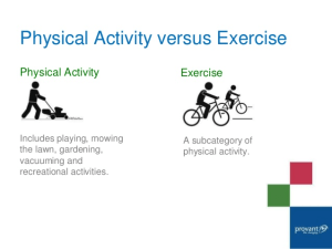Personal Training in Concord - Individual Fitness - Cardio Vs. physical Activity