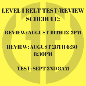 Kids Martial Arts  in Austin - Fit & Fearless - Belt Test Schedule
