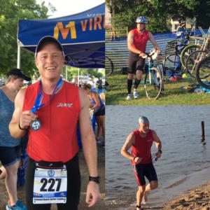 Fredericksburg- Your Very Own RARE Badass Finishes a Sprint Tri