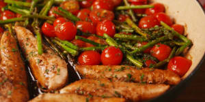 Personal Training in Concord - Individual Fitness - One Pan Balsamic Chicken and Asparagus