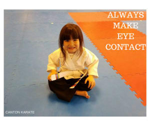 "Kids Martial Arts in Canton - Canton Karate - Improve your child""s social skills: Teach them to make eye contact."
