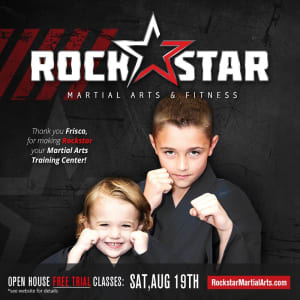 Kids Martial Arts in Frisco - Rockstar Martial Arts and Fitness - Annual Open House Saturday, August 19!