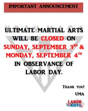 Kids Martial Arts in Chicago - Ultimate Martial Arts - Please mark your calendars