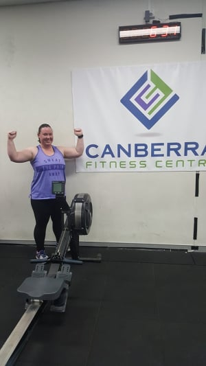 Personal Training in Canberra - Canberra Fitness Centre - July Client of the Month - Cassie Johnson