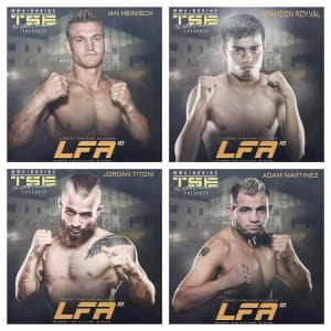 Brandon, Ian, Adam and Jordan are ALL on the 4/21 LFA card in Pueblo!