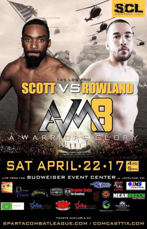 Randy Rowland fights 4/22 on the SCL AVM show in Loveland!
