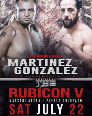 Adam Martinez will be fighting at TSE on 7/22!
