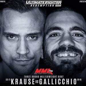 It's OFFICIAL! James Krause vs Tom Gallicchio 7/7 on the TUF finale!