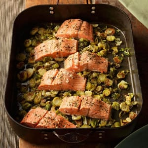 Personal Training in Concord - Individual Fitness - Garlic Roasted Salmon & Brussels Sprouts