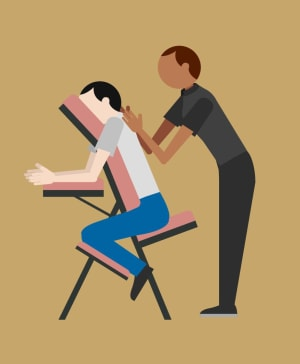 Complimentary chair massages Sunday September 10th