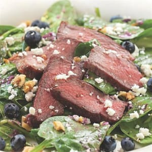 Recipe Of The Week: Spinach Salad with Steak & Blueberries