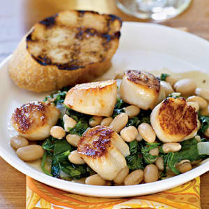 Personal Training in Concord - Individual Fitness - Seared Scallops with Warm Tuscan Beans