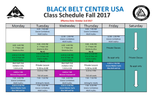in Huntington Beach - Black Belt Center USA - New Class Schedule Effective This Week