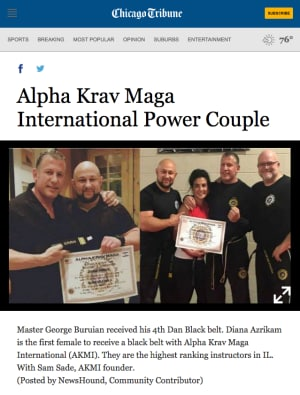 in 	 Northbrook - Alpha Krav Maga Compound - Articles
