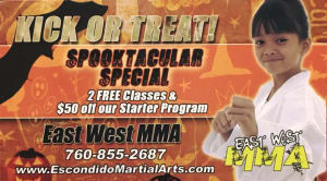 Kids Martial Arts in Escondido - East West MMA SoCal - Martial Arts for Fitness, Confidence and Self-Esteem!