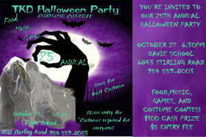 Kids Martial Arts in Davie and Cooper City - Traditional Taekwon-Do Center Of Davie - Halloween Party This Friday!