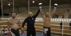 Tyler Cecil get 1st Kickboxing Victory