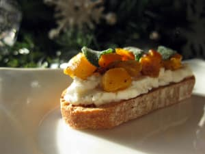 Personal Training  in Los Gatos - Mint Condition Fitness - Recipe of the Week: Butternut-Sage Crostini with Ricotta and Hazelnuts