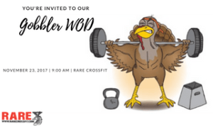 CROSSFIT in Fredericksburg - RARE CrossFit - Thanksgiving Workout and Pre - Black Friday Sale only at RARE CrossFit, Fredericksburg, Spotsylvania, and Stafford's premier CrossFit Facility!