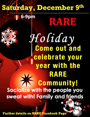 CROSSFIT in Fredericksburg - RARE CrossFit - Holiday Party at RARE CrossFit, Fredericksburg, Spotsylvania, and Stafford's premier CrossFit Facility!