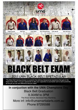 Kids Martial Arts in Heathmont - Ultimate Martial Arts - 20 Black Belt Candidates for December 2017