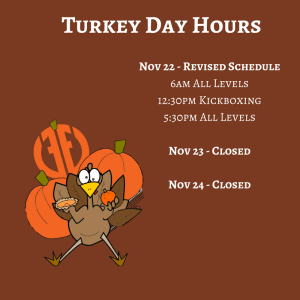 Kids Martial Arts  in Austin - Fit & Fearless - Thanksgiving Holiday Hours