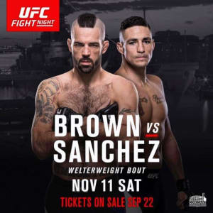 """November 11 • """"The Immortal"""" Matt Brown returns to the UFC cage • main card 8pm MST on FS1 •"""