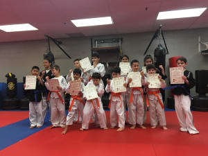 in Wayne - White Tiger Martial Arts - Beginners level up to their next ranks!
