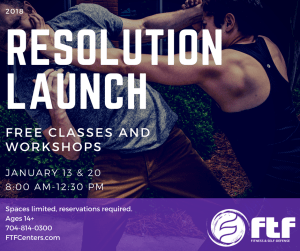 Kids Martial Arts in Charlotte - FTF® Fitness and Self-Defense - 2018 Resolution Open House Events!