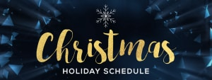 Christmas Training Schedule 2017