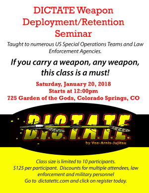 in Colorado Springs  - Dictate Tactical Training Center - Christmas Gift Certificates