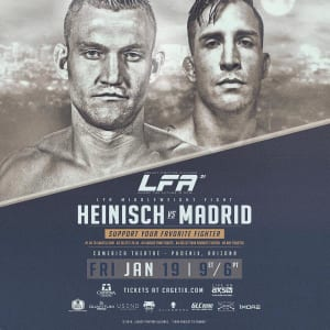 "Ian ""The Hurricane"" Heinisch • FIGHT ANNOUNCEMENT • LFA: Legacy Fighting Alliance 1/19 live from Arizona on AXS TV Fights! Tickets at Cagetix.com!"