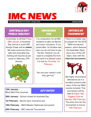 Kids Martial Arts  in St Clair, Kemps Creek & Hoxton Park - International Martial Arts Centres - IMC News January 2018