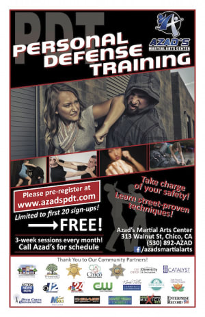 in Chico - Azad's Martial Arts Center - Now Offering Series of Self-defense Classes for Adults, Teens, and Kids in Chico: Personal Defense Training (PDT)
