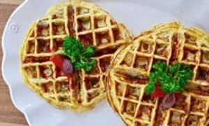 Greek Omelet Waffles