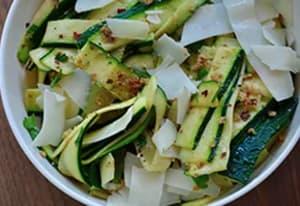 Flat Zucchini Noodles with Parm