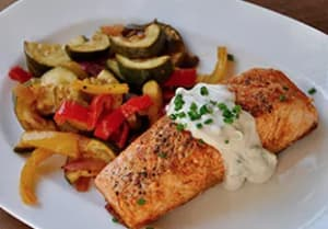 Chili-Roasted Salmon