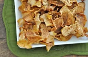 Cinnamon Baked Apple Chips