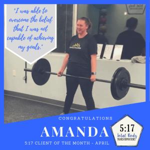 April's Client of the Month: Amanda