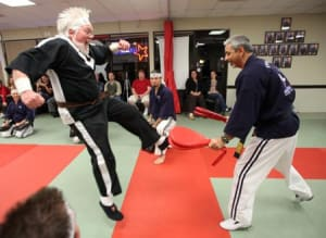 At 70, Lynn H. Elliott becomes a black belt at Azad's Chico Martial Arts!