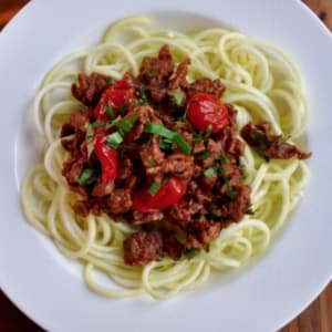 Beef Ragu with Zucchini Noodles at RARE Crossfit Fredericksburg, Spotsylvania, and Stafford's premier CrossFit Facility!