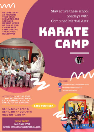 Combined Martial Arts Academy Nerang Karate Camp