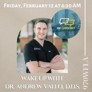 Dr. Andrew Vallo is a radio guest on the AM Tampa Bay Morning Show! (970 WFLA)