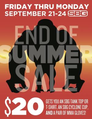 End Of Summer Sale Starts September 21st