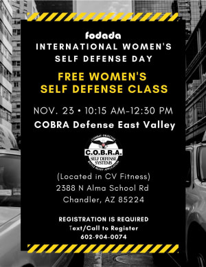 Event | FREE - Women's Self Defense Class Saturday, November 23, 2019